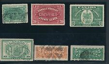 Canada (1898-1942) SPECIAL DELIVERY & REGISTERED (6); (1) MNH REST USED; CV $45
