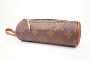 Auth Pre-owned Louis Vuitton LV Monogram Trousse Ronde Pen Case 16 M47626 210320