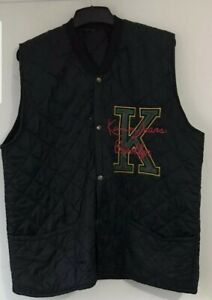 Original Mens Karl Kani Quilted Sleeveless VintageJacket, Size L.Good Condition