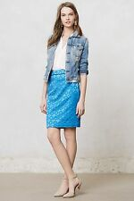 £88 NWT NEW ANTHROPOLOGIE MAEVE SADIE BLUE CIRCLE PENCIL SKIRT 6 8 2 4 34 38