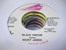 Rock Promo 45 NICKY JAMES Black Dream on Threshold (Promo)