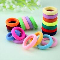 5/10Pcs Women Girls Kids Colorful Elastic Rubber Hair Band Rope Ponytail Holder