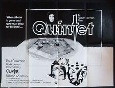 QUINTET ORIGINAL 1979 QUAD POSTER PAUL NEWMAN BIBI ANDERSSON ROBERT ALTMAN