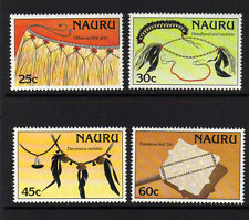 NAURU 1987 ARTIFACTS SET SG 349-352 MNH.
