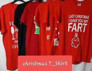 ladies women unisex christmas tshirt xmas novelty  top short sleeve shirt New