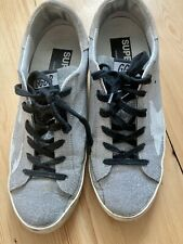 Golden Goose Trainers Sneakers 38 UK 5 Silver Glitter Super Star