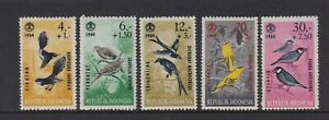 Indonesia - 1965, Social Day, Birds set - MNH - SG 1022/6