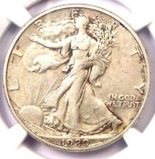 1920-S Walking Liberty Half Dollar 50C - Certified NGC AU50 - Rare Date!
