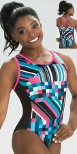 "Nwt! Virtual Dreams Simone Biles Gk â""¢ gymnastics leotard Cool mesh T back! Cm"