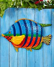 Outdoor Metal Wall Art Decor Tropical Fish Hangings Sculptures Indoor Home Patio