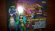 new Wizard 101 MIRAGE RAIDER'S Bundle Game Card Nomad Camp CROWNS pet Mount NEW