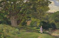 """perfact 36x24 oil painting handpainted on canvas """"little girl,landscape""""@N126"""