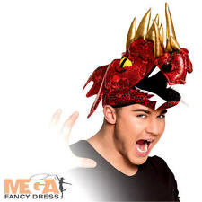 Red Dragon Cap Hat Adults Fancy Dress Chinese New Year Adults Costume Accessory