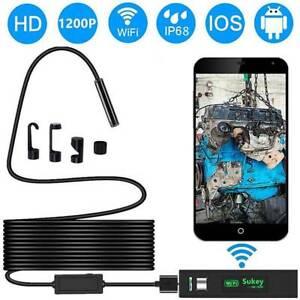 USB Wifi Endoskop Inspektion Kamera 8LED Endoscope fr iPhone Android Kanal Handy