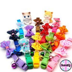 Bow Tie Adjustable Kitten Necktie Collar Bowknot Dot Bell Cat Small Pet Puppy