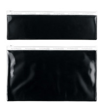 NEW MAC Cosmetics Set of 2 Sleek Rectangular Black Clear Cosmetic Brush Bag