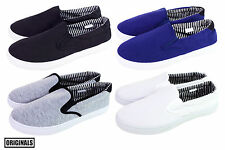 Men's Canvas Shoes Slip On Casual Sneakers Kicks Originals Lowtop Footwear NEW