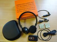 Quest Wireless conversion includes Lite Headphones & transmitter, rechargeable.