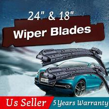 "24"" & 18"" Windshield Wiper Blades Bracketless OEM Quality ALL SEASON PREMIUM USA"