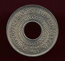 Palestine 1946 5 mils unc coin