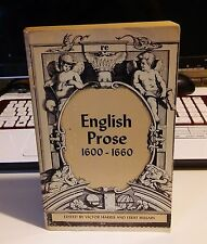 English Prose 1600 - 1660 Paperback – 1965 by edited by Victor Harris (Author)