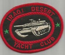 ARMEE Iraqi desert yacht club char assaut Irak écusson / patch 11X8.5 cm