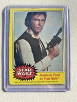 Star Wars Series 3 (Yellow) Topps 1977 Trading Card # 144 Han Solo