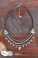 Gorgeous Handmade 3 Layer Hematite Bead & Silver Arrow Head Charm Necklace