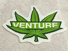 "Venture Skateboards Sticker marijuana Leaf , Very Cool Colors, 5"" x 4-1/4"""