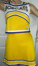 "Bobcats Hs Cheerleader Uniform Outfit Costumes 32-36"" Top 24-28 Skirt Choose"