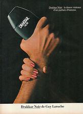 Publicité Advertising 1983  Parfum Drakkar Noir de Guy Laroche
