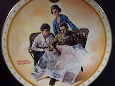 Rockwell Home of the Brave TAKING MOTHER OVER THE TOP Soldier Ltd Ed Plate