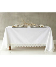 NWT COYUCHI ORGANIC COTTON GRAND LACE TABLECLOTH RT178