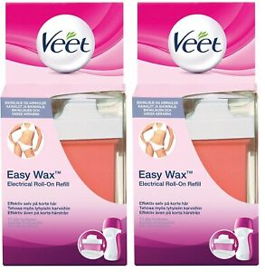 Veet Easy Wax Electrical Roll-On Refill Bikini & Underarms (2 x 50ml) Refills