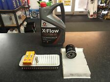 TOYOTA AYGO 1.0 SERVICE KIT OIL CABIN AIR FILTERS SPARK PLUGS 5 LITRES XFLOW OIL