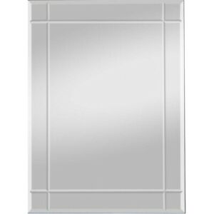 Facettenspiegel Wandspiegel inkl. Aufhänger Rillenschliff 55x70x0,4 cm Lobby Bad