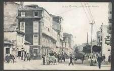 Spain Postcard La Coruña Calle De San Andres Carts On Cows L@@K