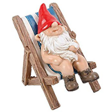Miniature World Gnaughty Gnome Sunbathing