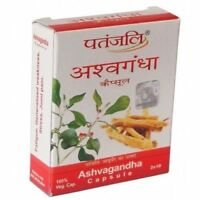 Patanjali herbal Ramdev Ashwagandha For fatigue,restiveness,weakness 20 Capsule