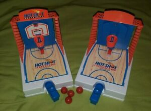 Vintage Travel Games Hot Shot Basketball Game Toy Lot 1992 Milton Bradley