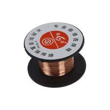 5X(1pcs 15m 0.1mm cuivre a souder soudure emaille bobine de fil Rouleau Conne U)