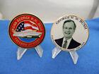 PRESIDENT GEORGE H.W. BUSH #41 & THE USS GEORGE H.W. BUSH 2 CHALLENGE COIN SET