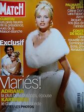 PARIS MATCH N° 2588 ADRIANA KAREMBEU PHOTOS WILLY RIZZO PAVAROTTI CLINTON 1998