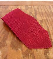 "euc Nautica Shiny Red Geometric Men's Silk Tie Necktie 59"" 3.75"""