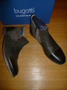 BUGATTI  mens leather boots shoes Sz-43EUR  10US
