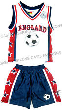 Niño Ropa Deportiva Fútbol Copa Mundial FIFA 18 Inglaterra Fan Kit Shorts Set
