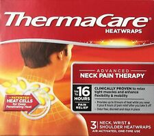 ThermaCare Heatwraps Neck, Shoulder & Wrist 3 Each ( Pack of 9)