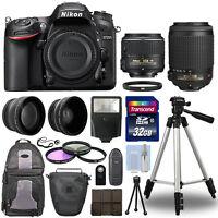 Nikon D7200 Digital SLR Camera + 4 Lens Kit 18-55mm 55-200mm VR + 32GB & More