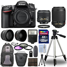 Nikon D7200 Digital SLR Camera + 4 Lens Kit 18-55mm 55-200mm VR + 32GB & More