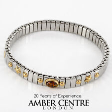 """NOMINATION ITALIAN """"DREAM"""" BRACELET BALTIC AMBER in 18ct GOLD BAN133  RRP£245!!!"""